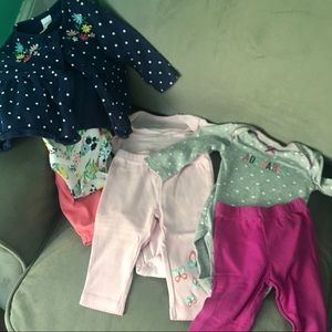 3 Sets of 6M Carter's Bodysuits & Pants